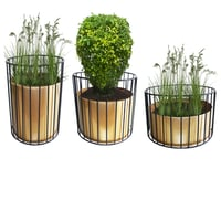 Metal Wire Based Designed Planter with Stand Set of 3