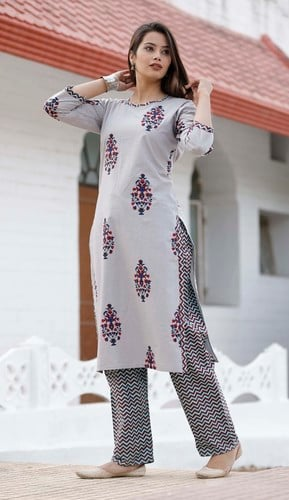 Kurtis With Embroidery Work