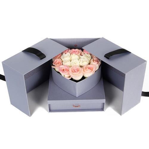 Paper Flower Gift Packaging Box