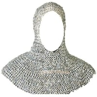 Medieval Armory Chainmail Coif Hood Zinc Finish