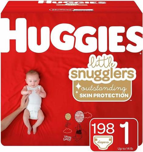 White Colored Little Movers Diapers