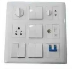 Electrical Modular Switch (White)
