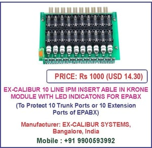 Ex-Calibur 10 Line Ipm Insertable In Krone Module With Led Indications