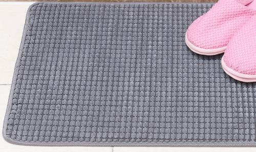 Microfiber Gray Bath Mat