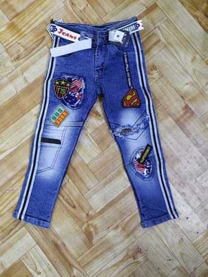 Kids Funky Jeans With Belt