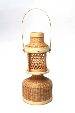 Antique Bamboo Wood Lampshade