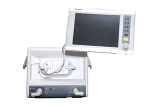 ICU Ventilator Infant to Adult Portable With 4 Hour Battery Option Turbine Based