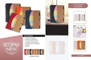 Spiral Brown Eco-Friendly Note Pads