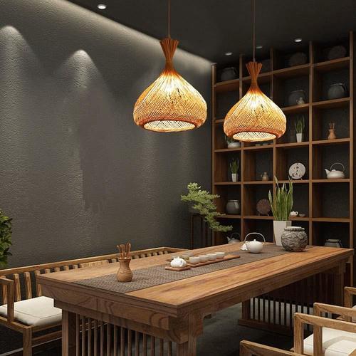Natural Handmade Pendant Bamboo Round Lampshade