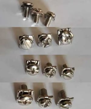 Screw, Square Washer and Spring Washer Set