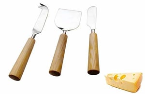 Wood Handled Cheese Set Of 3 piece With Gift Box