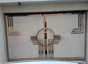 Stainless Steel Main Entrance Gate With Core Cutting Design On Sheets