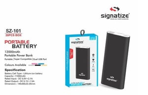 SZ-101 12000MAH Portable Battery Power Bank With Dual USB Output Charger for Mobiles