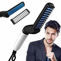 Multifunctional Curly Hair Straightening Comb Curler For Men