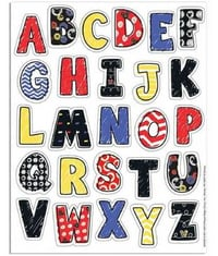Superior Resistance Alphabet Sticker