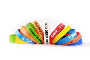 Multi-Color Promotional Silicone Wristbands