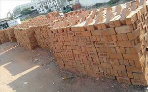 Rectangle Solid Red Bricks