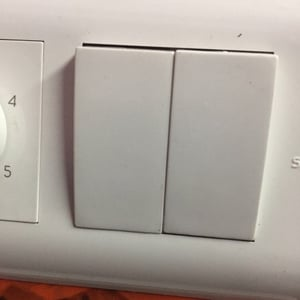White Abs Electrical Switches