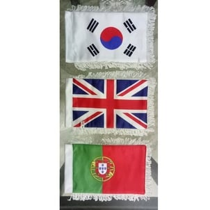 Printed Satin Table Flags