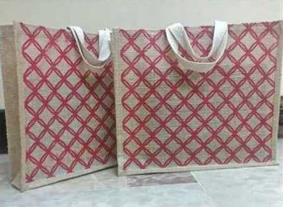 Jute Shopping Bag With Cotton Tape Handle