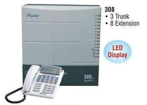 Inspire 308 Crystal EPABX System With 3 Trunk And 8 Extension