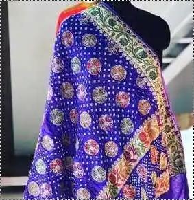 Kutchi Traditional Bhandhani Silk Sarees