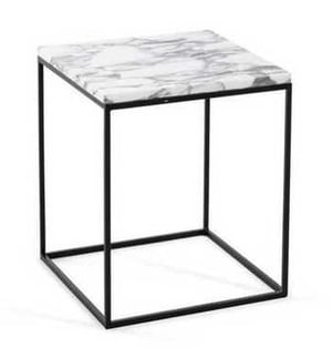 Iron Side Table With Granite Top