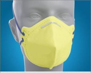 Yellow Safety Nose Mask