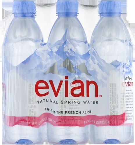 Evian Natural Mineral Water 6 X 1.5 Litre
