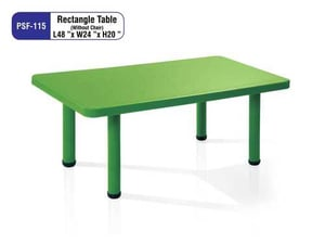 Green Rectangle Table for School