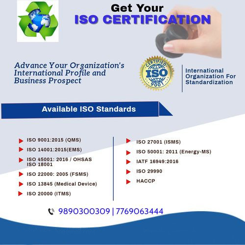 ISO Standards Certification Services