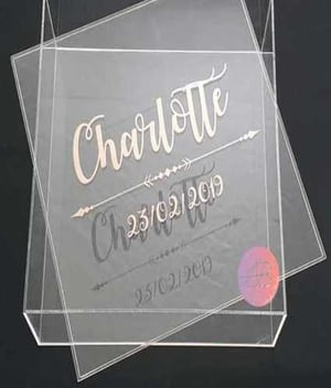 Transparent Acrylic Gift Packaging Boxes