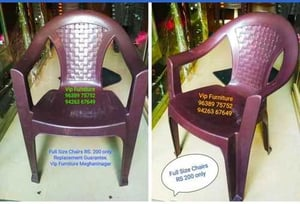 Moulded Plastic Chair With Armrest