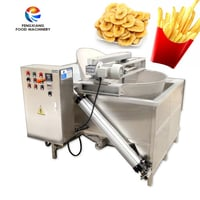 Industrial French Fries Batch Fryer Frying Machine For Banana Chips