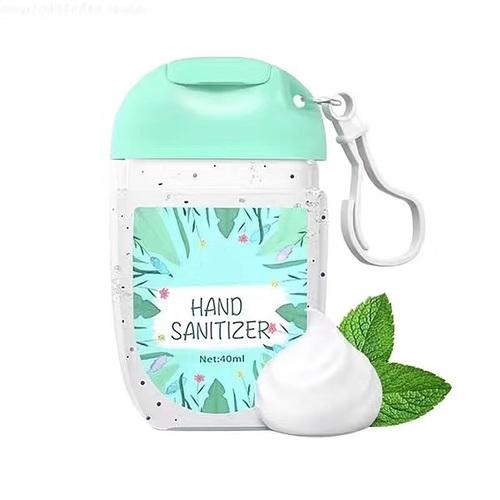 40 Ml Transparent Flip Cap Waterless Hand Wash