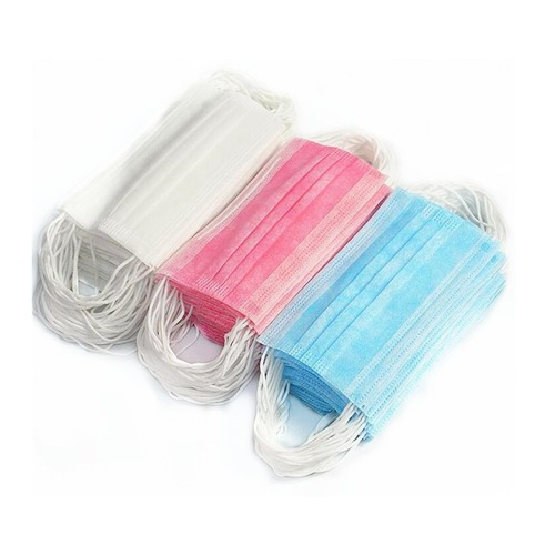 Disposable Non Woven Face Mask With 3 Ply