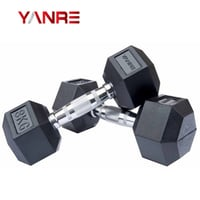 Crossfit Rubber Coated Hex Dumbbell