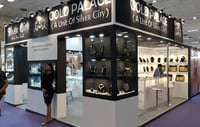 36 Square Meter 3 Side Open Jewelry Display Exhibition Stall