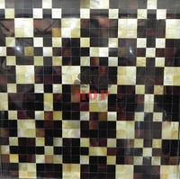 Conch Bullear Shell Marble Mosaic Tile MSW1005
