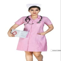 Female Pink Nursing Uniform, Size : Large