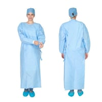 Stitched Blue, Green Doctor Surgical Gown for Hospital