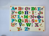 Wooden Colored ABC Educational Puzzle