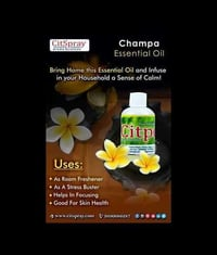 100% Pure Organic Champa Essential Oil