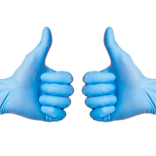 Blue Colored Disposable Nitrile Gloves