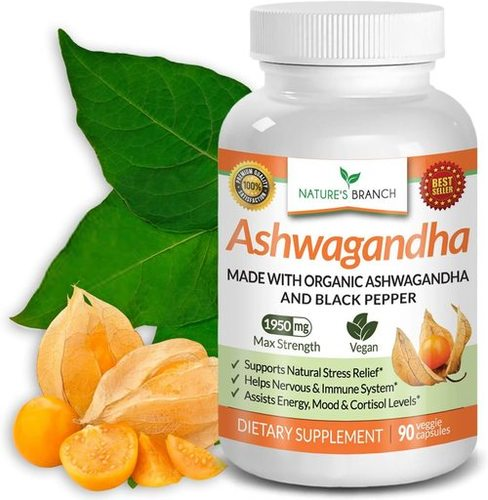 Organic Ashwagandha Capsules With Black Pepper