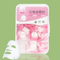35pcs DIY Compressed Mask With a Bowl In Clear Box