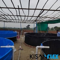 650 GSM PVC Tarpaulin Tank with 5 year Warranty for Fish Farming