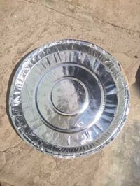 12 Inch Silver Coated Paper Thali
