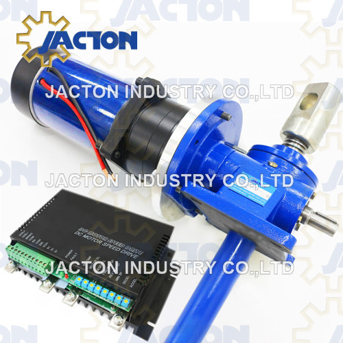 24v Electric Screw Jack 5 Ton 250mm Travel With 1hp 24 Volt DC Planetary Geared Motor