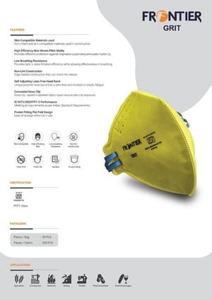 Yellow Colored Frontier Ffp1 Mask